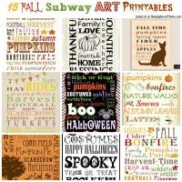 15 Fall Subway Art Printables