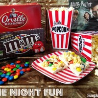 Movie Night Fun and Bark Recipe Starring Orville Redenbacher's Popcorn and M&M's