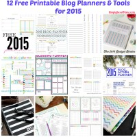 12 Free Printable Blog Planners & Tools for 2015