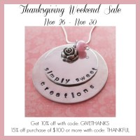 Hand Stamped Ornaments and Jewelry + MY Black Friday Deals