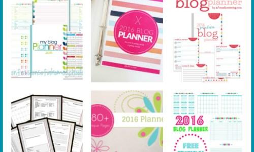 Free Printable Blog Planners for 2016