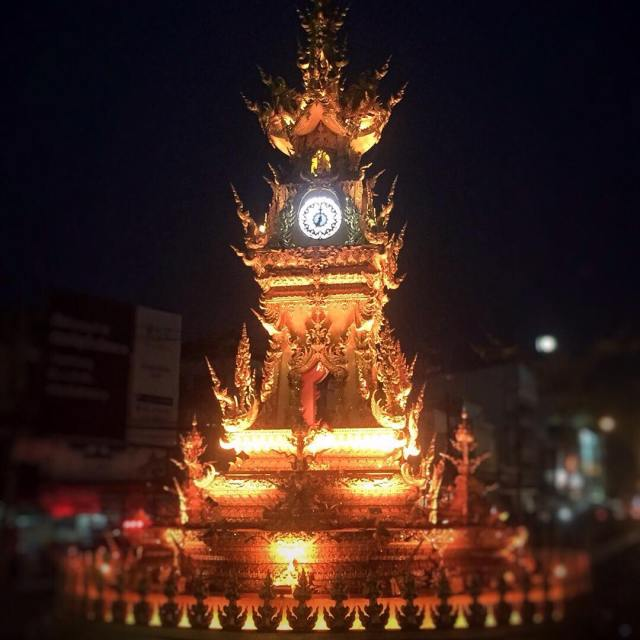 How beautiful is the ClockTower ChiangRai