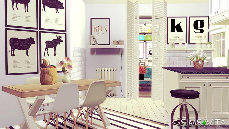 Swedish Kitchen Living Sims Vita