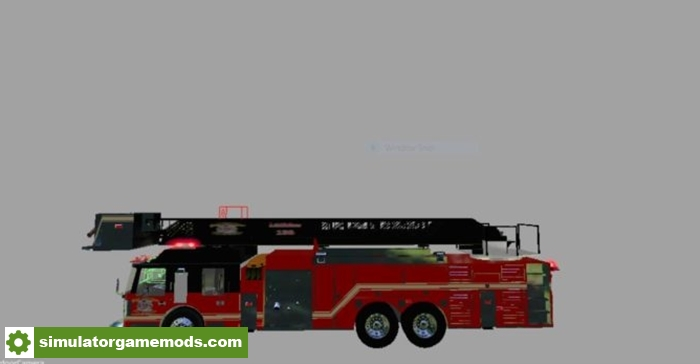 Fs15 Tower Ladder Fire Truck V1 Simulator Games Mods