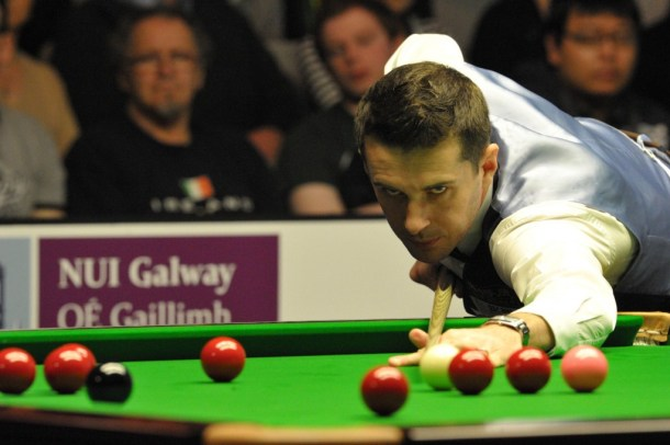 Mark Selby taking a shot at last year's PTC Snooker.