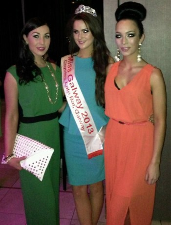 Sian Murphy, Miss Galway Laura Fox and Shahira Barry of Assets model agency. Photo courtesy of Shahira Barry