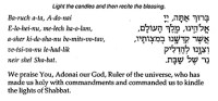 Candle Lighting Prayer For Shabbat | Lighting Ideas