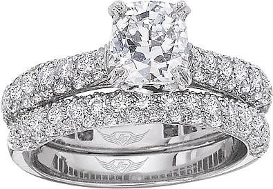 Flyerfit Micro Pave Diamond Engagement Ring 5205