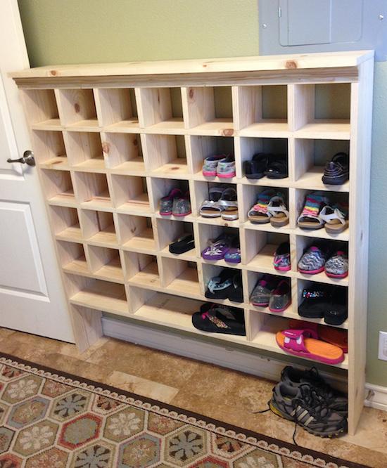 Reader Spotlight Kristi39s Diy Shoe Cubby Sincerely Sara D