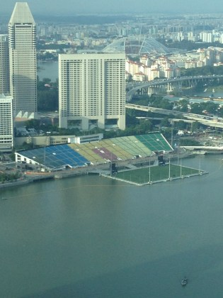 World largest floating stage. (Currently a temporary stadium)
