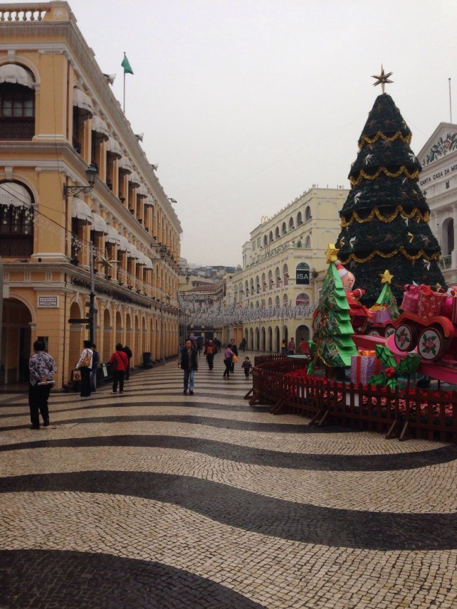 Senado Square, Macau with portuguese pavement.