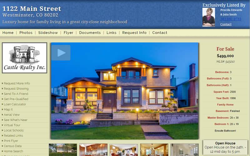Single Property Website Templates and Themes - neighborhood website templates