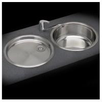 Reginox Round Bowl Sink and Drainer Set - Sinks-Taps.com