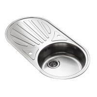 Reginox Galacia Round Bowl Sink &Drainer - Sinks-Taps.com