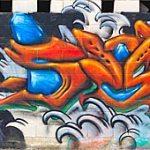 Graffitis en el Skatepark de Navia
