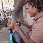 Viaje fotográfico a la India: Barberos callejeros