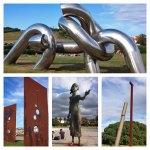 Paseando por Gijón (esculturas junto al mar)