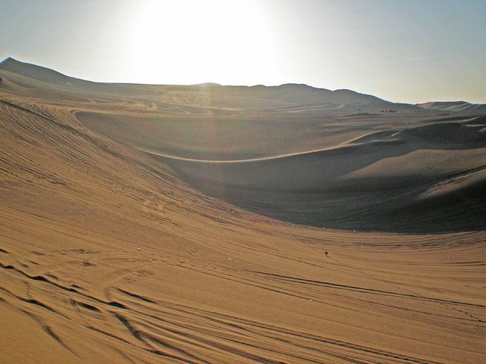 Atardecer en las dunas de Huacachina