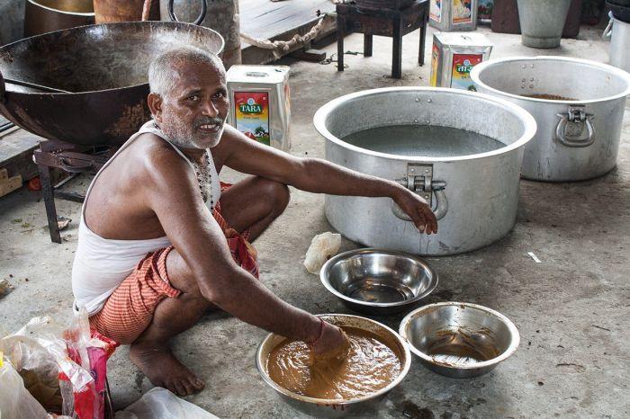 Hora del almuerzo en Calcuta