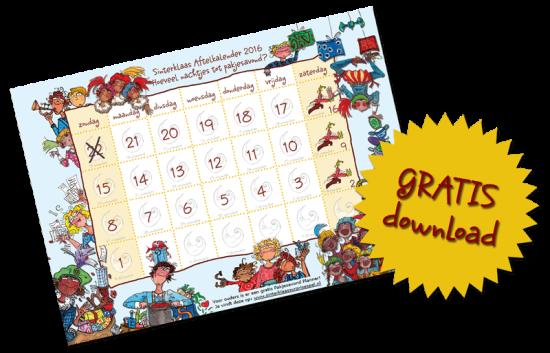 Sinterklaas aftelkalender 2016