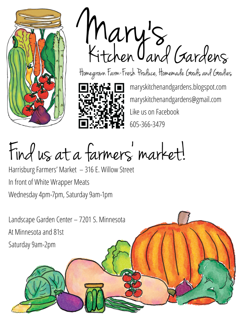 page layout for farmers market flyer by McKeever Design and Copywriting Sioux Falls South Dakota