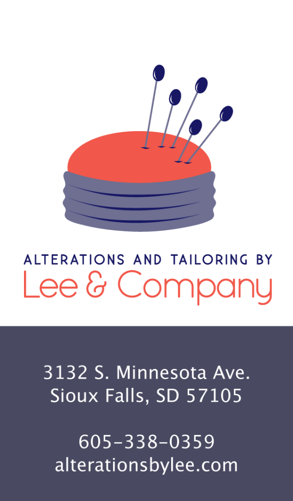logo design for Alterations by Lee of Sioux Falls