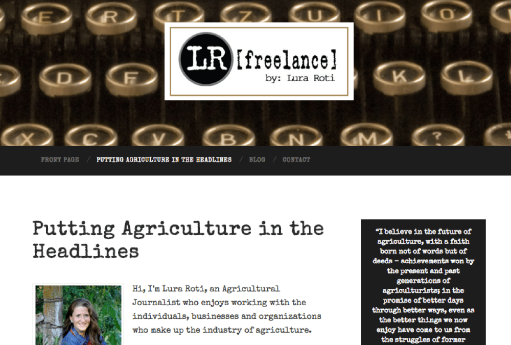 Website for LRFreelance of Sioux Falls, South Dakota