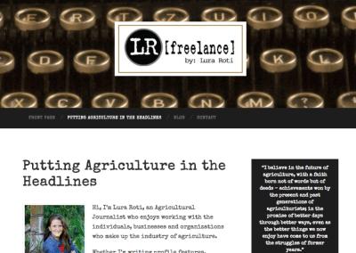 Website for LRFreelance of Sioux Falls, South Dakota