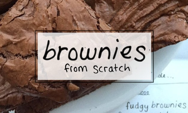 Chewy fudge brownies from scratch