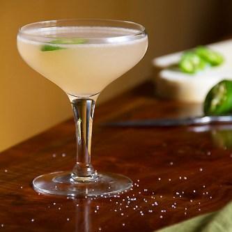 Cocktail with Grapefruit Juice & Jalapeno