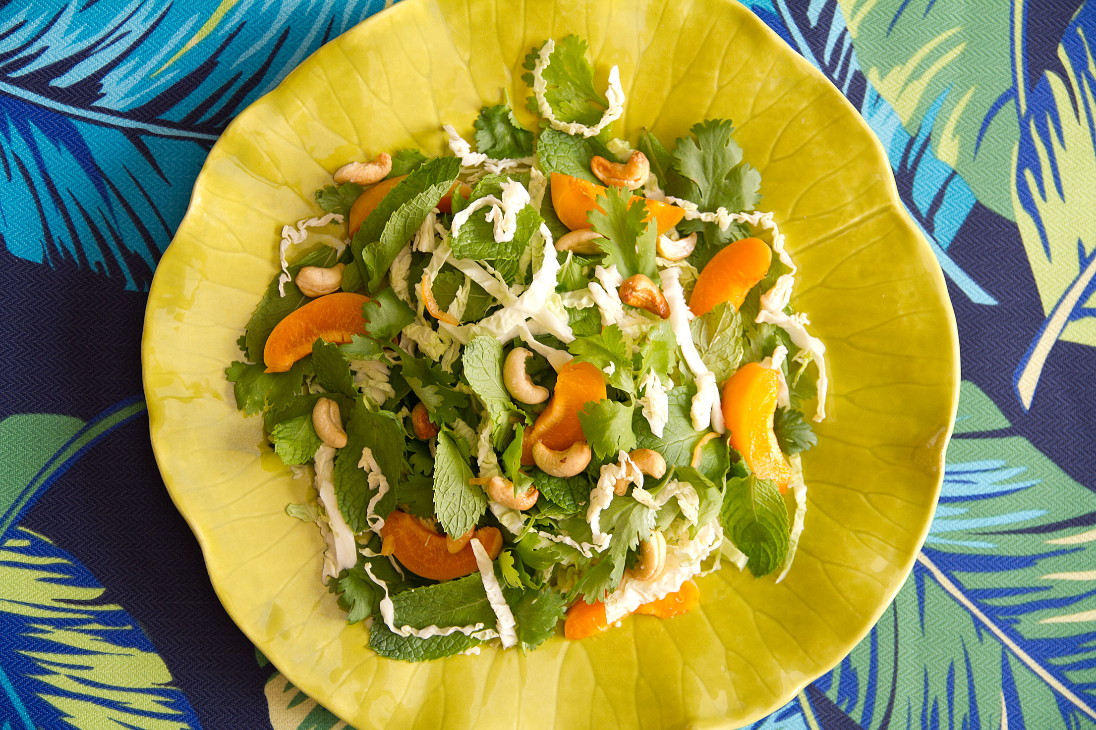 cabbage and apricot salad with lemongrass-lime dressing is my definition of a great salad
