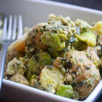 Potato Salad with basil and sorrel