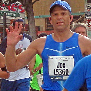 Joe Pangrazio runs the LA Marathon