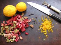 orange scented rhubarb compote ingredients