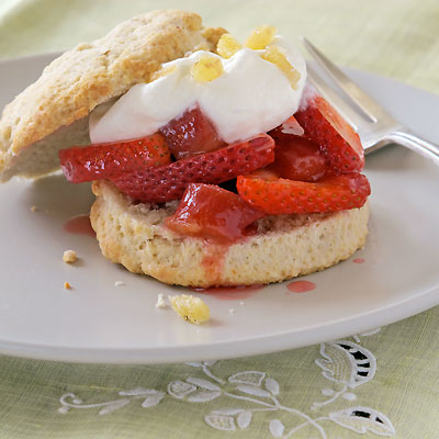 Rhubarb & Strawberry Shortcakes