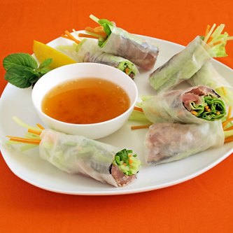 Tuna Tataki Vietnamese Summer Rolls