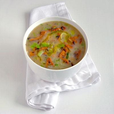 White Bean & Chanterelle Soup with Sage