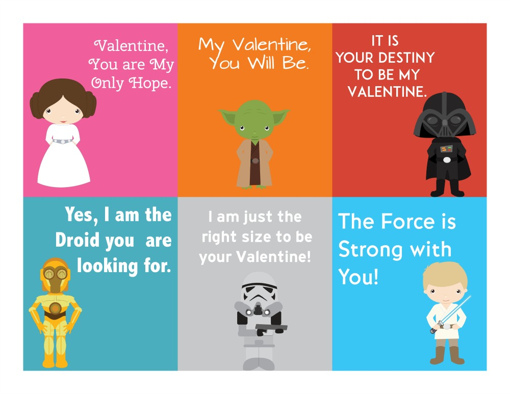Free Printable Star Wars Valentine\u0027s Day Cards - Sippy Cup Mom