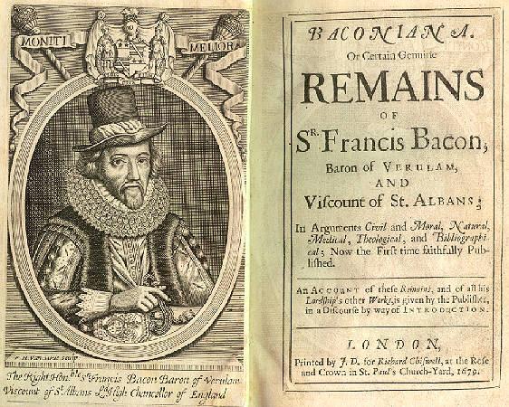 Sir Francis Bacon Essays - The Essays