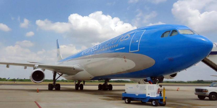 Foto subida por Aerolíneas Argentinas a su Facebook