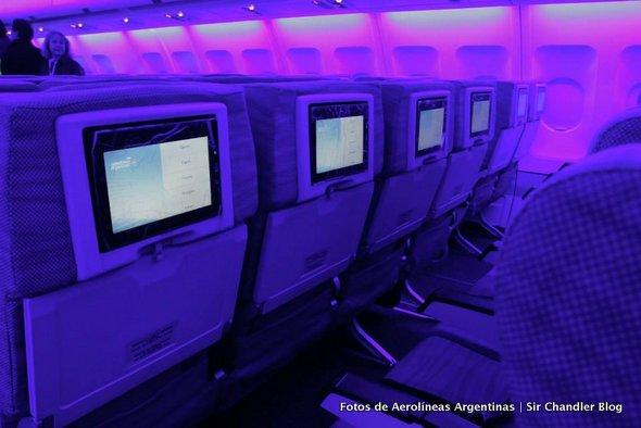 Las fotos del Airbus 330 de Aerolíneas, revelando su interior