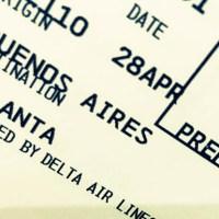 Volando en la business de DELTA rumbo a Atlanta