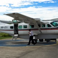 Volando en un Cessna Grand Caravan (una avioneta para Doña Rosa)