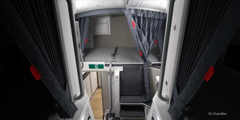 El camarote de la tripulación en el Airbus 350