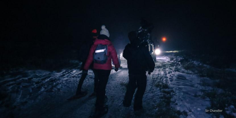 Caminata nocturna en Tierra Mayor (cerca de Ushuaia)
