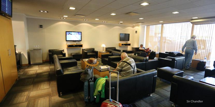 El salón vip de AA2000 en el Aeroparque