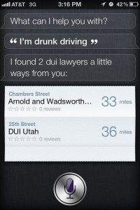 I Am Drunk Driving... ~ Funny Siri Sayings