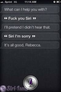 Fuck You Siri - Siri Says
