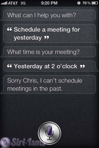Schedule a Meeting For Yesterday - Siri Quotes
