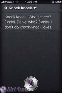 Knock Knock...Siri Hates Telling Jokes